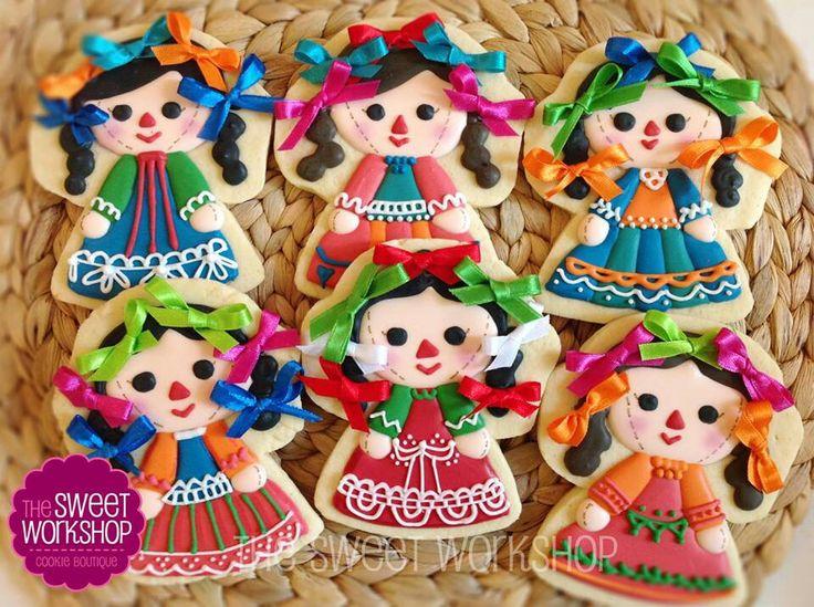Galletas de muñecas típicas mexicanas.