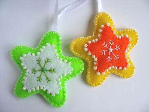 Handmade-Christmas-Felt-Ornament-Stars-Set-of-2-from-Ukrainian-Designer-Gorgeous