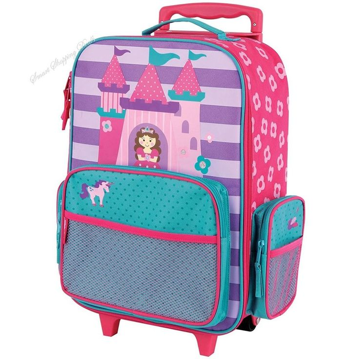 Classic Rolling Luggage For Girls School Bag Kids Suitcase Toddlers Travel Bags  #StephenJoseph #Princess