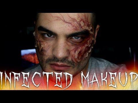 Infected Plague Zombie Halloween Makeup Tutorial - YouTube