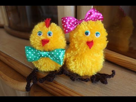 Урок по handmade Пасхальный цыпленок, делаем своими руками - YouTube