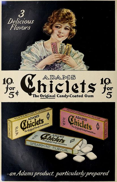 1921 Chiclets Gum ad