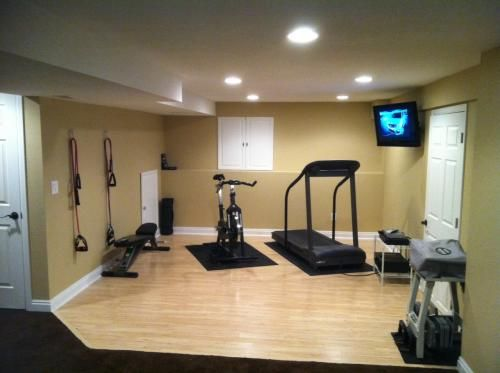 Williams Residence   Fitness Studio And Complete Interior Painting In Full  New Basement Build In Private