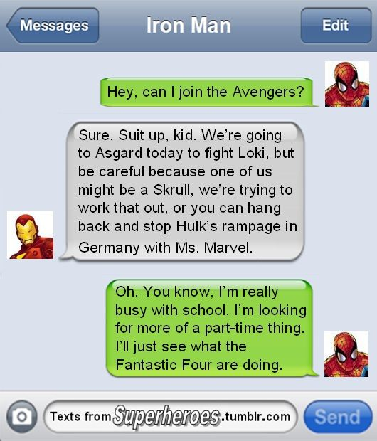 Go away, Spidey. We don't need you!