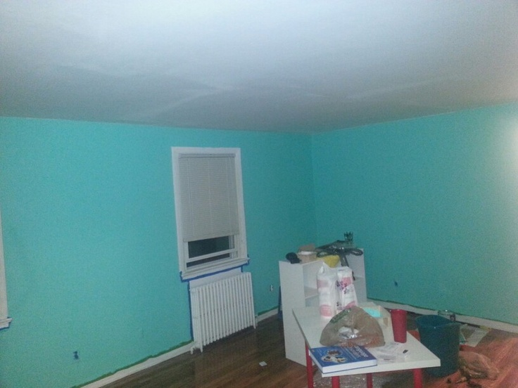 Walls Painted Paint Was From Sherman Williams, Itu0027s Called Tantalizing  Teal. It Was 40