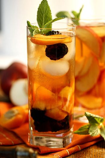 My favorite drink, ice tea.  Sometimes with fruits and mint.