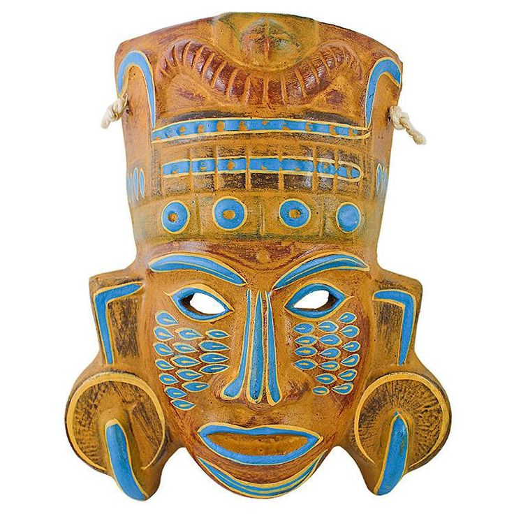 Clay Mask:Mayan Priest | Mexico | Pinterest | Clay, Masks ...