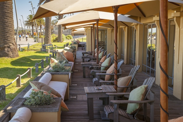 The Terrace - While the sun shines, a perfect place to relax with a view of the beach. Donovans Restaurant