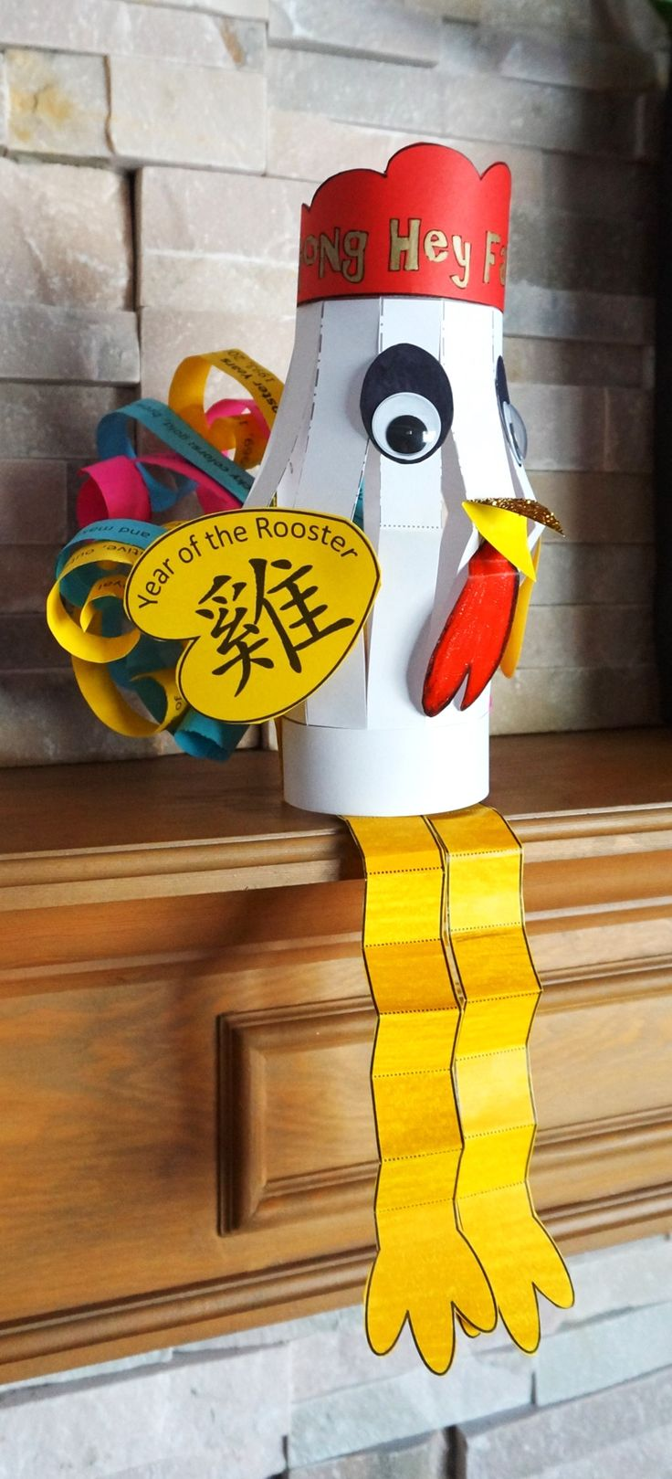 Chinese New Year 2017 :: Year of the Rooster :: Chinese Lantern Craft. Decorate your classroom for Chinese New Year on January 28th, 2017. Chinese Roosters Lanterns hanging from the ceiling or sitting on the shelf, your kiddos will love creating n these Chinese lanterns - more at megacutie.co.uk