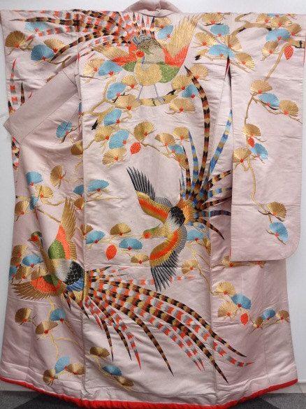 FREE SHIPPING  Japanese Kimono Silk / Vintage by Orientalvintage88, £249.50