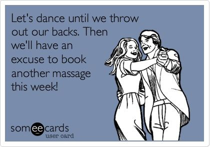 Haha! Don't hurt yourself on purpose, but a massage is always a good idea! :)