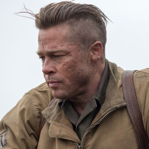 brad pitt fury hair - photo #8