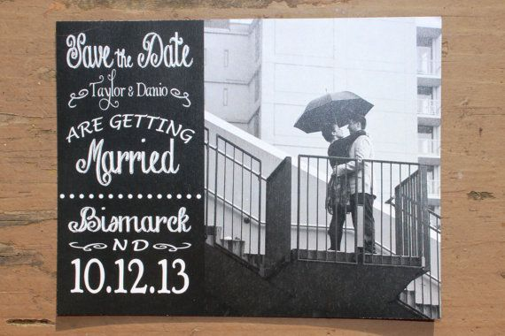 Chalkboard Save the Date Magnet - customize your magnet, these are our save the dates!