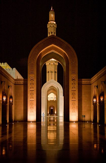 Grand Mosque | Muscat, Oman  Beautiful. I miss passing by the Grand Mosque whenever we go to Sohar.
