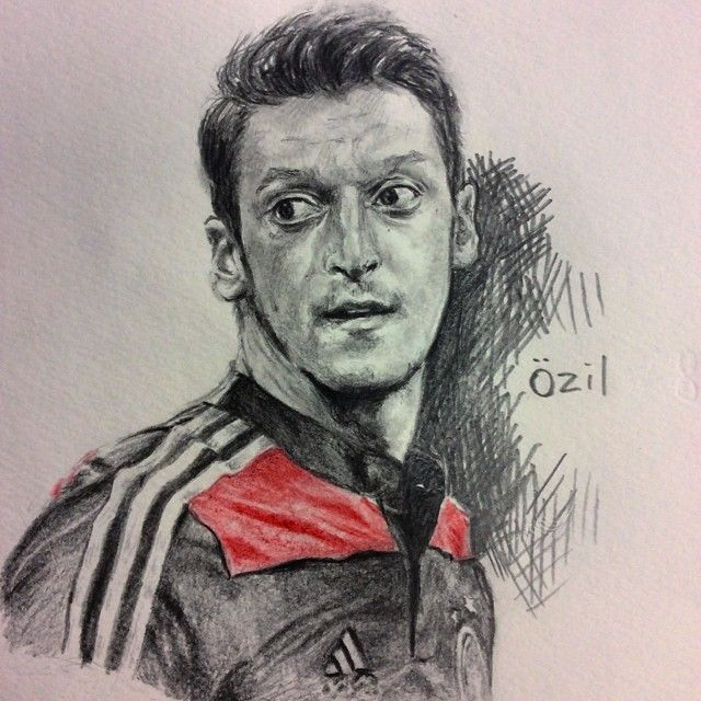 Mesut Özil @m10_official  Germany VS France Good Luck Germany❤️❤️❤️ #MesutÖzil #Özil #ozil #2014 #fifa #worldcup #brazil #germany #mf #soccer #football #Arsenal #11 #8 #portrait #draw #drawing #artwork #color #pencil #dessin #instaart #エジル #ワールドカップ #ドイツ代表  いよいよ今夜!テレ東が映らない問題は無事解決したので仮眠をとってパブに向かいます!!!