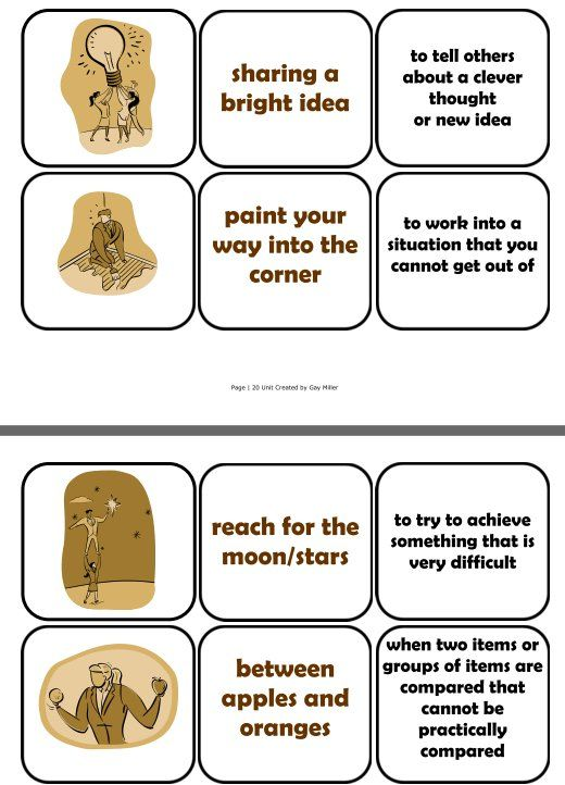 Free Idioms Cards - This set includes 38 idioms in which students match illustrations to literal and figurative definitions.