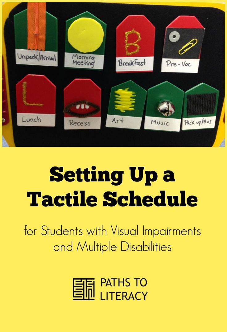 Tips on setting up a tactile schedule for students with CVI, or visual impairments and multiple disabilities
