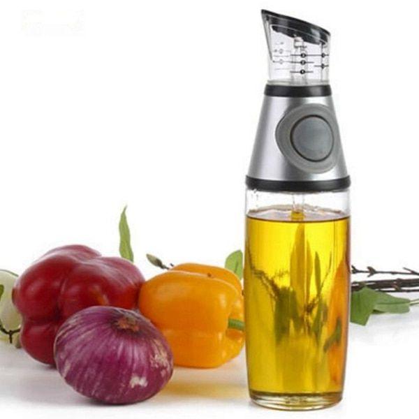 500Ml Olive Oil Dispenser Leak Proof Soy Sauce Seasoning Bottle Press Type Metering Oil Bottle Vinegar Bottle,1 Sets of 2 Pieces