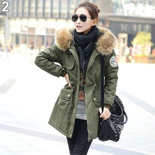 Women Winter Warm Jacket Zip Coat Long Sleeve Faux Fur
