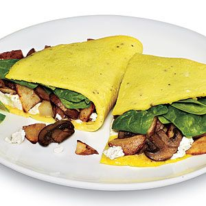 Healthy Breakfast and Brunch Recipes | Quick Garden Omelet | CookingLight.com