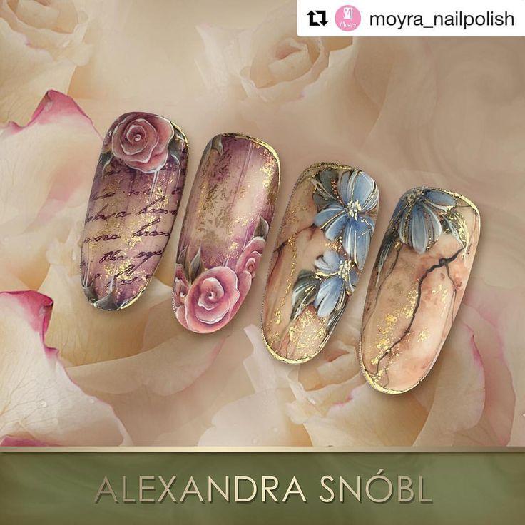 574 отметок «Нравится», 2 комментариев — Alexandra Snóbl (@alexandrasnobl) в Instagram: «Gel painting @moyra_nailpolish»