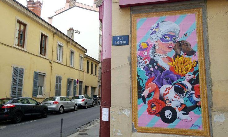happycurio rauky rue pasteur lyon street art marquise frites