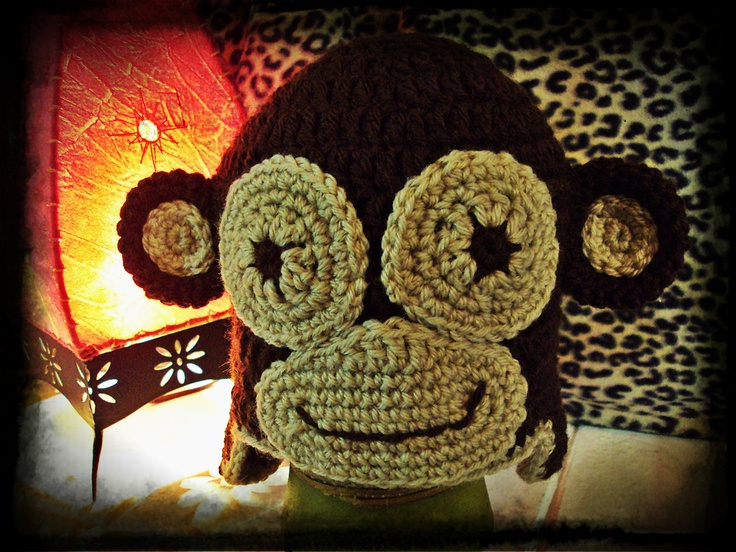 Gorro de macaco em croché / monkey crochet hat