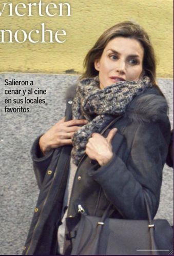 Queens & Princesses - The Semana magazine published new photos of Felipe and Letizia as they walked out of a cinema in Madrid there a few days