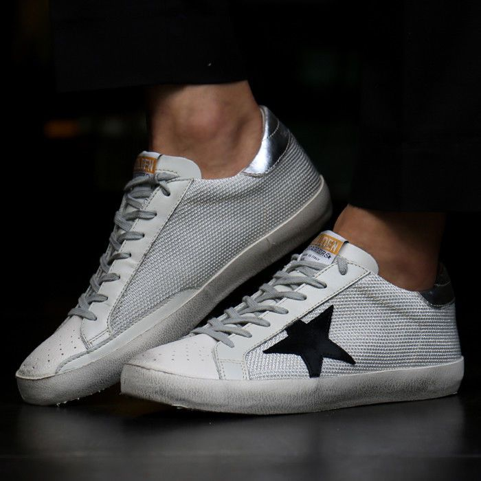 Golden Goose F/W Men's Sneakers Gray Code Silver Tap G31MS590 C39 Deluxe Brand #GoldenGoose #FashionSneakers