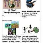 You will get a 2 page document that will be cut into fourths to make an 8 page mini book.  This book tells facts about George Washington and his li...