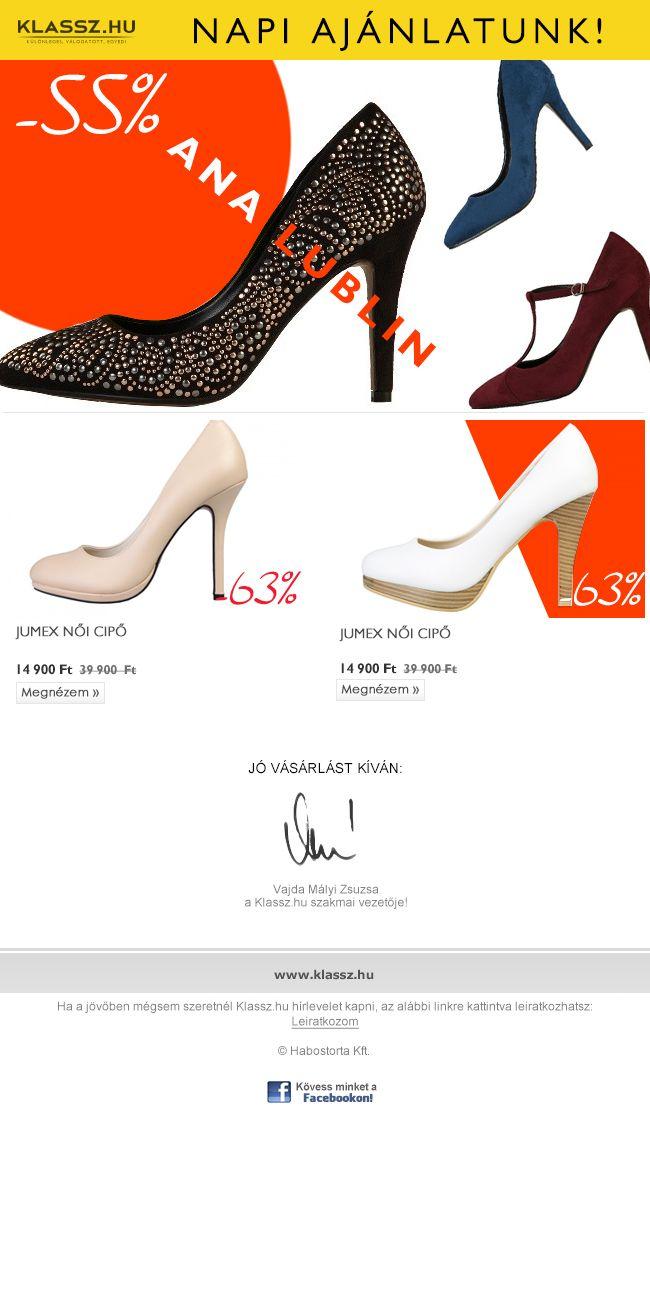ANA LUBLIN és JUMEX női cipő leárazás! 55-63% kedvezménnyel!