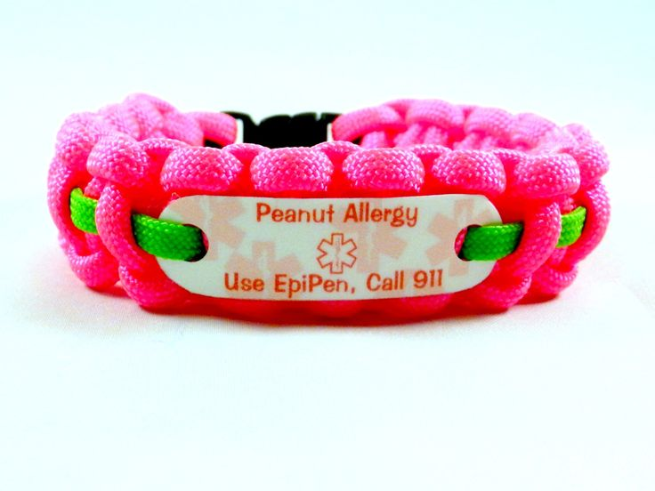 Peanut Allergy Medical Alert, Call 911 bracelet
