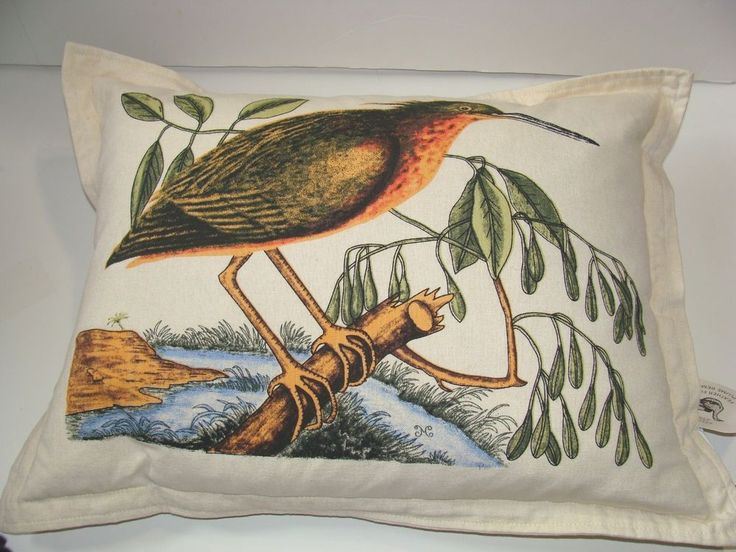 Newport Throw Pillows Birds : NEWPORT Luxury Luxe Bird Designer Throw Pillow Multi-Color Feather Filled- INDIA Luxury, India ...