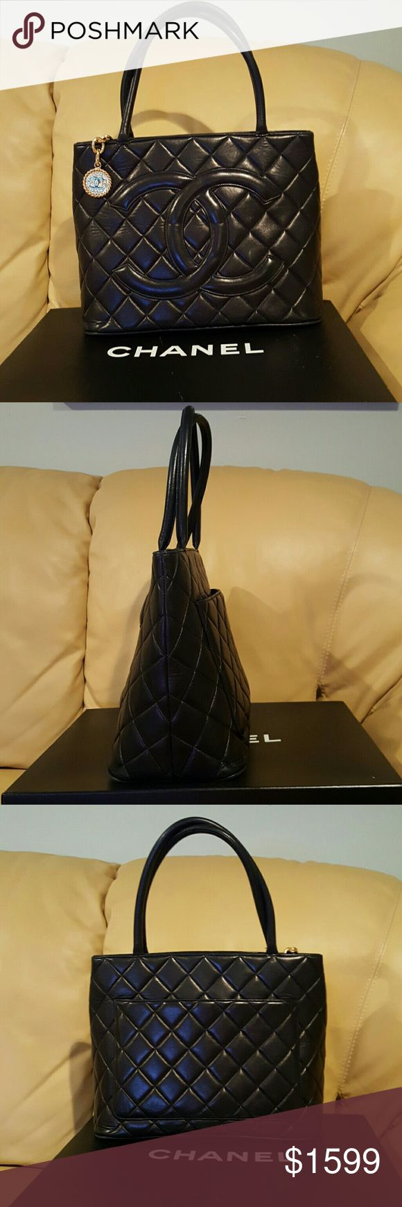 Chanel Black Caviar Classic  Medallion  Bag Pre-owned in a good condition CHANEL Bags Totes