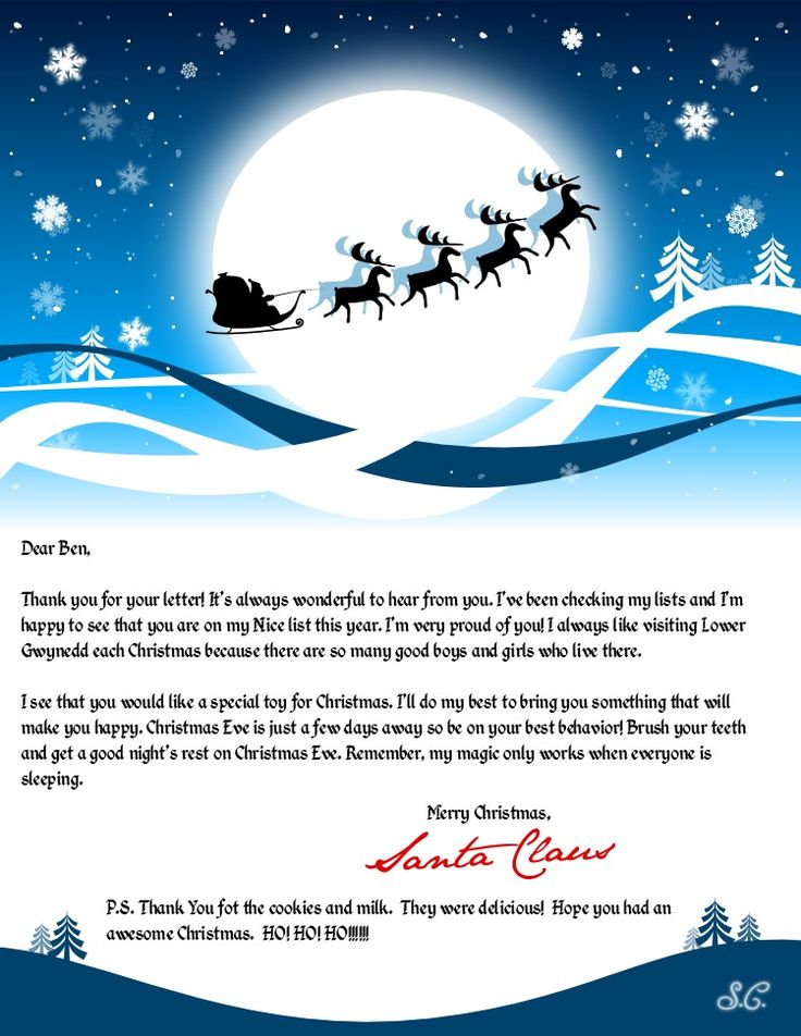 Official North Pole Mail  Personalized Letters From Santa Claus
