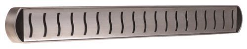 MIU France Stainless Steel Magnetic Knife Bar, 20-Inch by MIU France. $27.99. Includes screws for wall mounting. Wall-mountable stainless steel knife holder. Made of attractive, durable 18/10 stainless steel; secure magnetic hold. Measures 20 inches long, 3/4-inch wide, 2 inches thick. 20-inch bar long enough to hold an entire collection of kitchen knives. Amazon.com                This handy knife bar keeps cutlery within the chef's reach above a busy prep station but s...