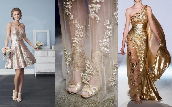 Sparkly dress, Gold sparkly dress