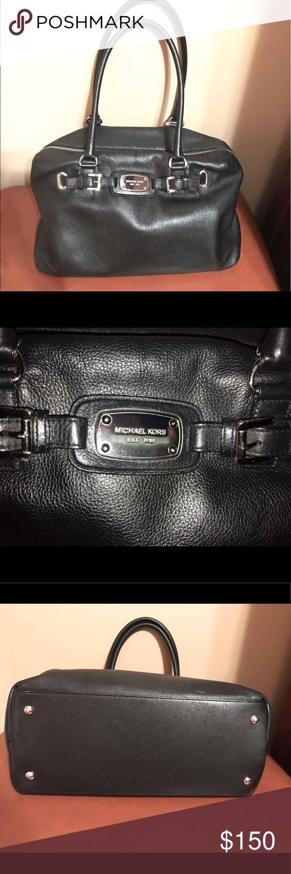 Michael Kors Large Black Bag In good condition, lightly used.  Perfect for work or a weekend getaway. Michael Kors Bags Shoulder Bags