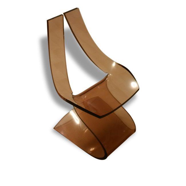 """Chaise """"Lucite"""" de Michel DUMAS vers 1970"""