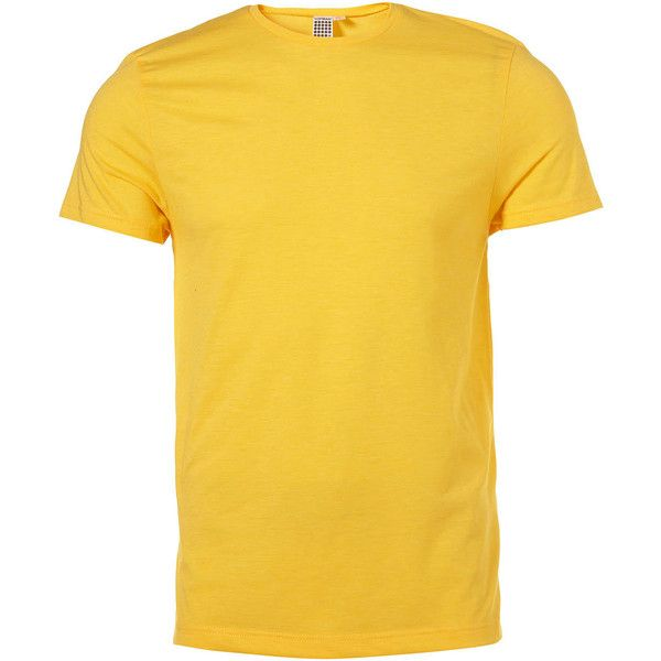 egg yolk yellow classic crew neck t shirt mens plain t