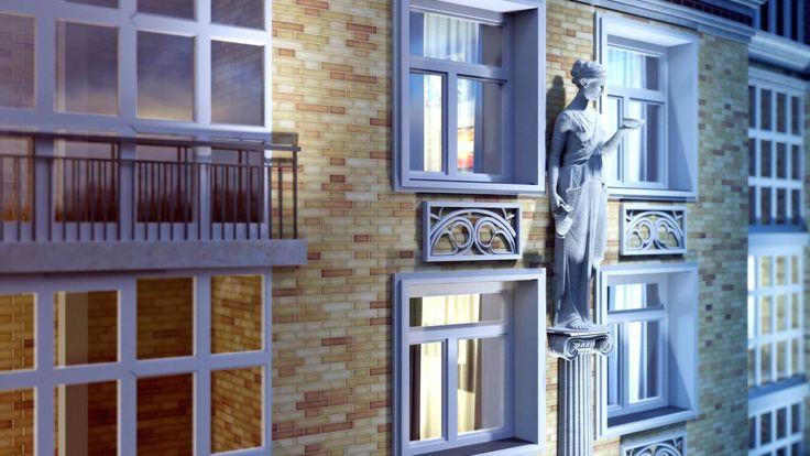 """Визуализация фасада ЖК Легенда  http://srt.ru/portfolio/vizualizatsiya-zhk-legenda/  КЛИЕНТ: ГК """"Новые Кварталы""""   Разработка визуализации для ЖК Легенда.Студия работала над проектом совместно с архитекторами жилого комплекса. Связано это с тем, что каждое здание, по задумке авторов проекта, было непохоже на другое, а малые архитектурные формы имели огромное количество проектных нюансов.Сначала была создана визуализация генплана всего комплекса без учета архитектуры фасадов. После того, как…"""