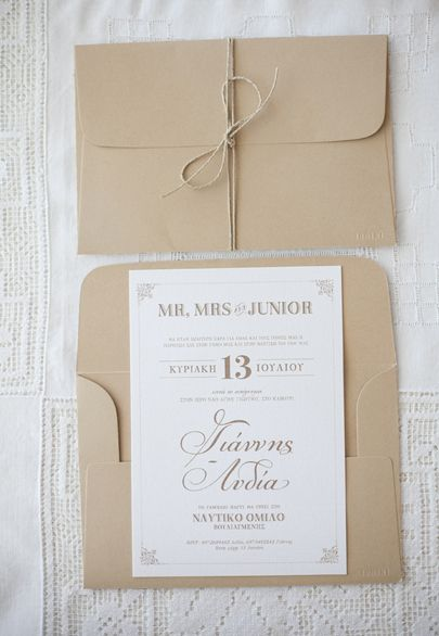 Vintage invitation with custom fonts- Mitheo Events | Concept Events Styling