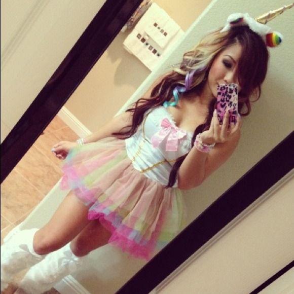 leg avenue Dresses & Skirts - Adult Unicorn halloween rave costume
