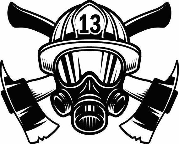 Firefighter Logo 1 Firefighting Rescue Helmet Mask Axes
