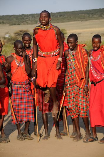 "Maasai - The Maasai (sometimes spelled ""Masai"" or ""Masaai"") are a Nilotic ethnic group of semi-nomadic people located in Kenya and northern Tanzania. They are among the best known of African ethnic groups, due to their distinctive customs and dress and residence near the many game parks of East Africa."