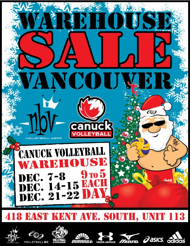 Canuck Volleyball Warehouse Sale | VBC