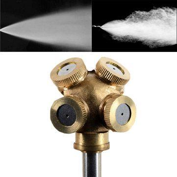 1/4 Inch 4 Hole Brass Spray Nozzle Garden Sprinklers Irrigation Fitting