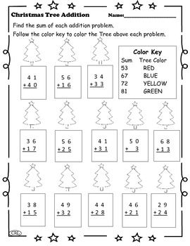 christmas tree addition with regrouping christmas pinterest. Black Bedroom Furniture Sets. Home Design Ideas