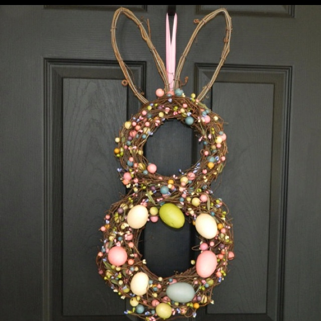 Easter Wreath found on Etsy-Ever Blooming Originals: Blooming Originals, Projects, Ideas, Easter Wreaths, Holiday Crafts, Bunny Wreath, Bunnies, Easter Bunny