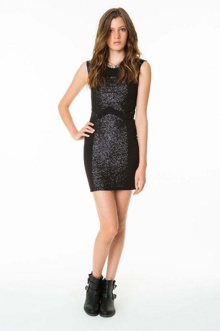 #sequins #sexy #LBD #TALLYWEiJL #musthave http://www.tally-weijl.net/p/dresses-jumpsuits/schwarzes-enges-kleid-mit-pailletten/ndrmimavy-blk001?categoryId=21569